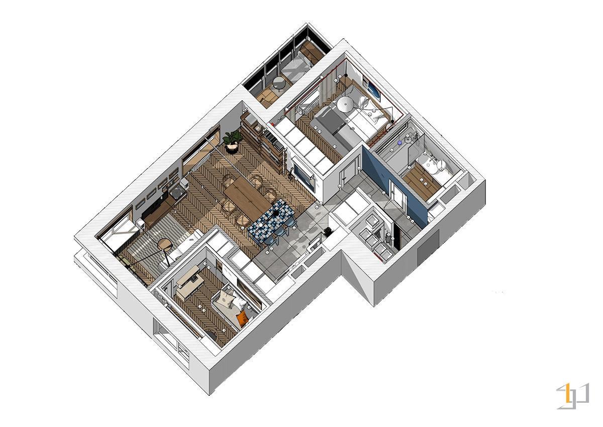 thiết kế nội thất chung cư 55m2 - 04