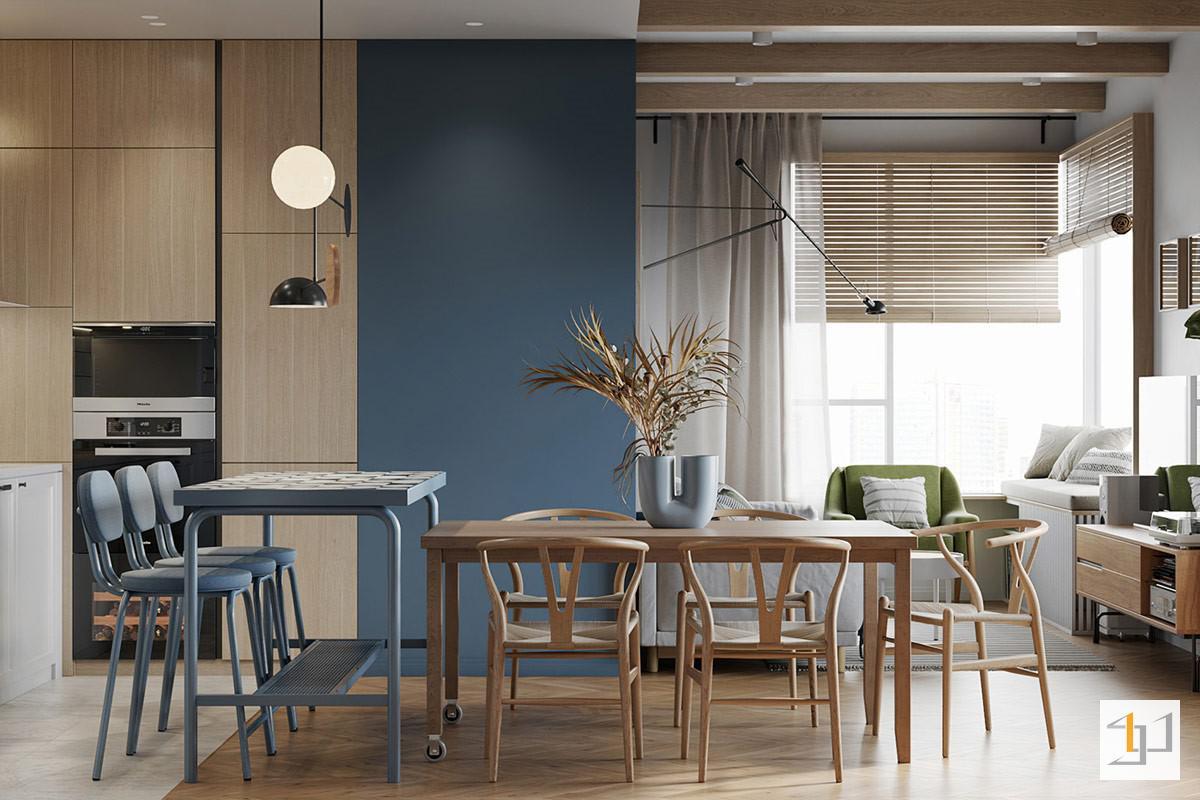 thiết kế nội thất chung cư 55m2 - 05