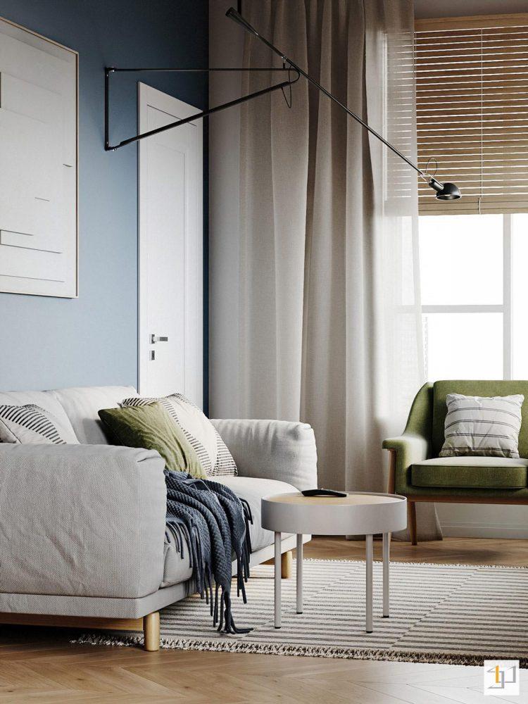 thiết kế nội thất chung cư 55m2 - 06
