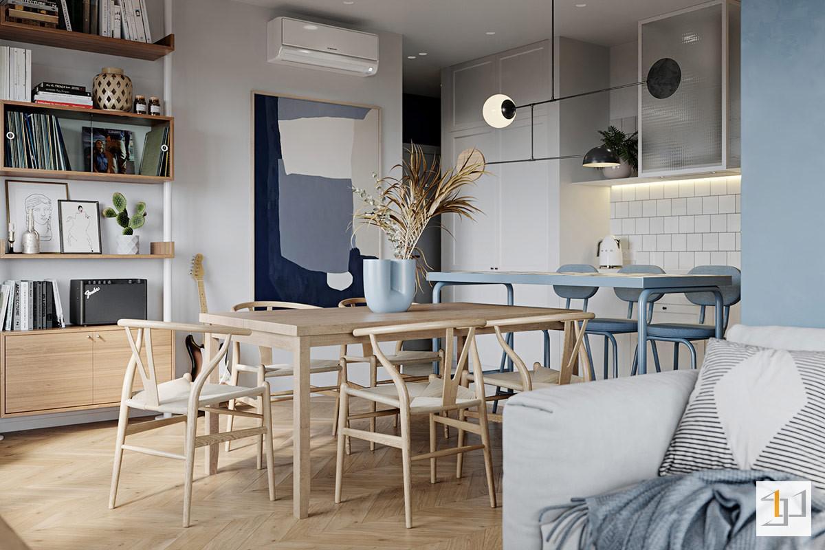 thiết kế nội thất chung cư 55m2 - 07