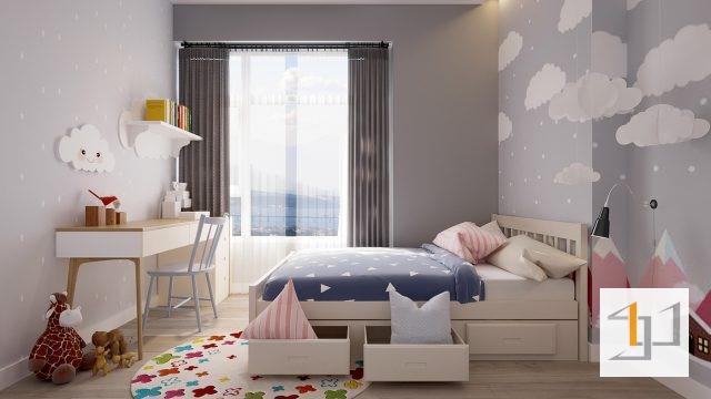 thiết kế nội thất chung cư 60m2 - 07