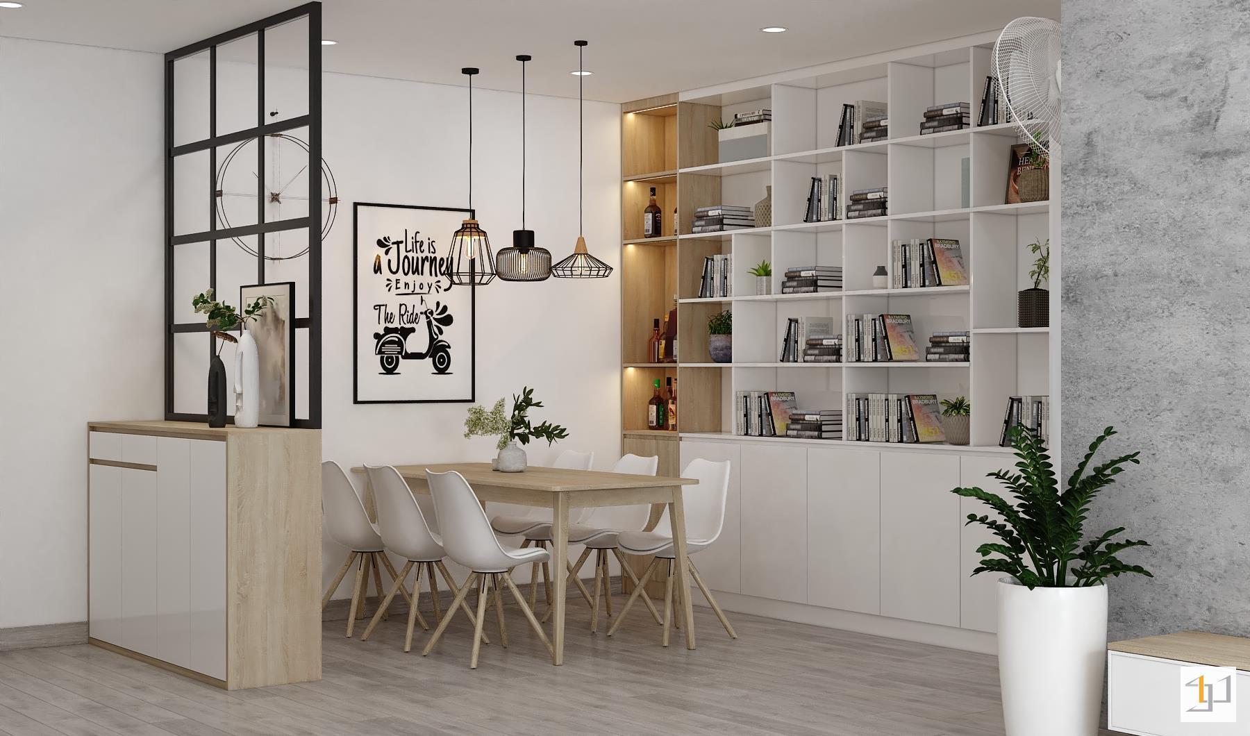 thiết kế nội thất chung cư đơn giản - 11