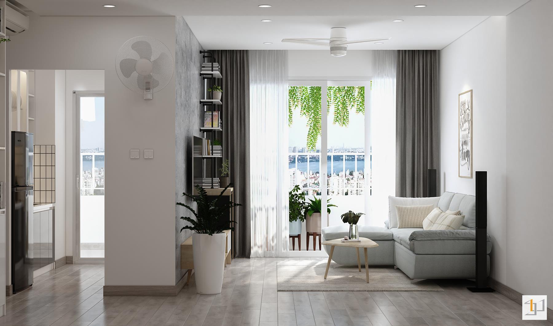 thiết kế nội thất chung cư đơn giản - 06