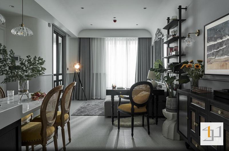 Thiết kế nội thất chung cư phong cách Đông Dương
