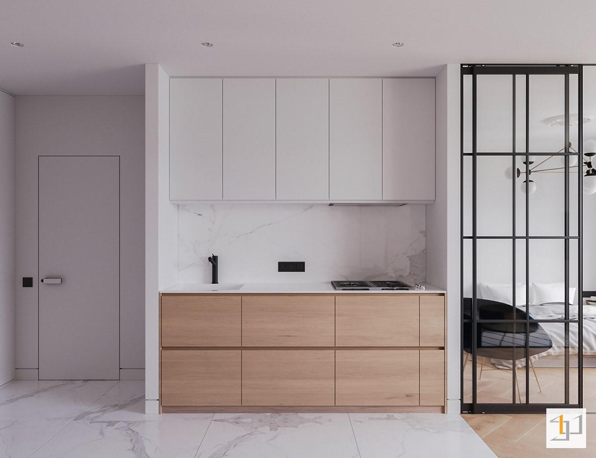 Tủ bếp nhỏ gọn tiện nghi