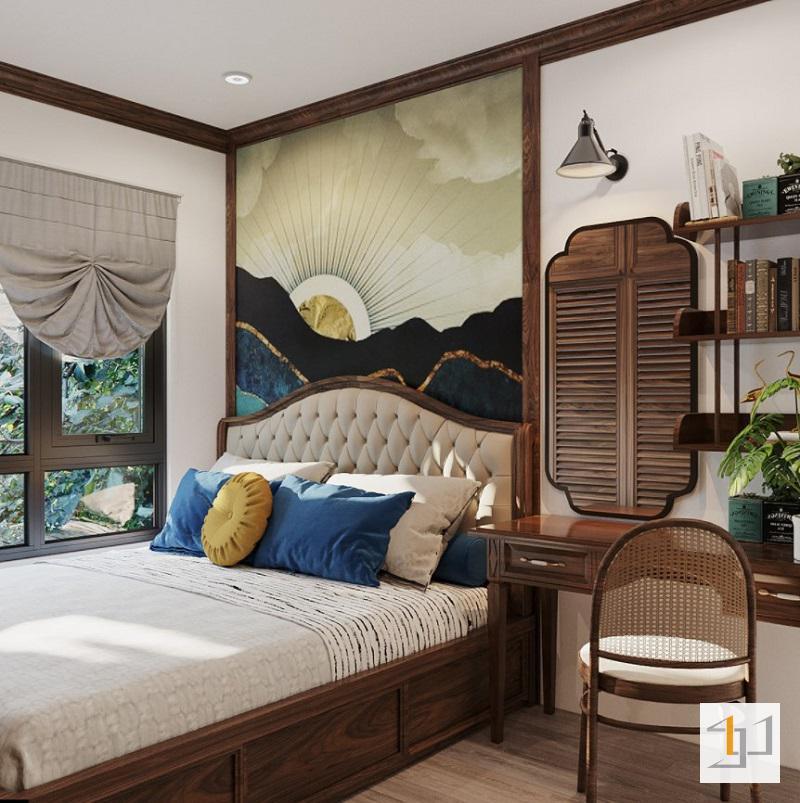 Thiết kế giường ngủ truyền thống đẹp