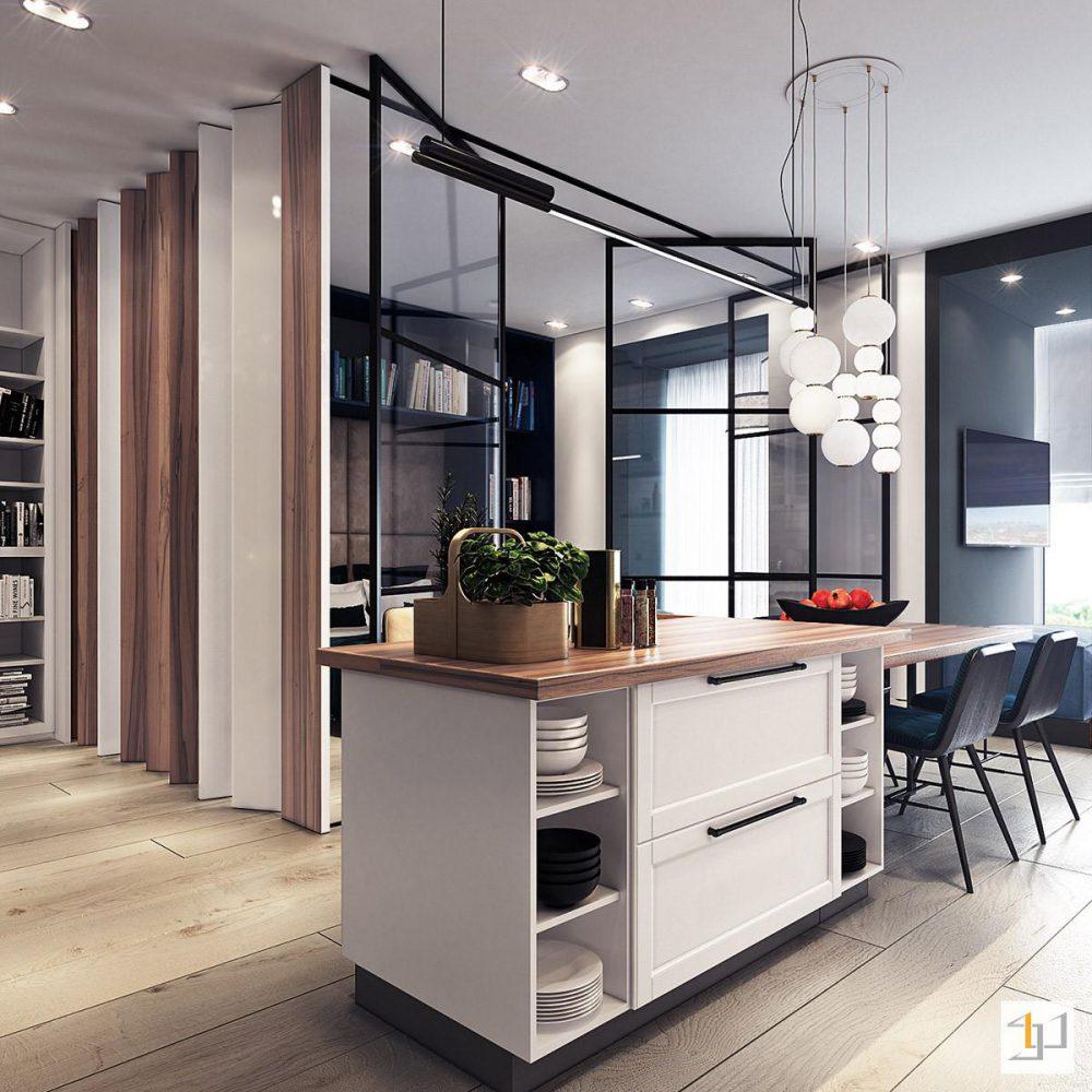 Tủ bếp hiện đại cho nhà chung cư