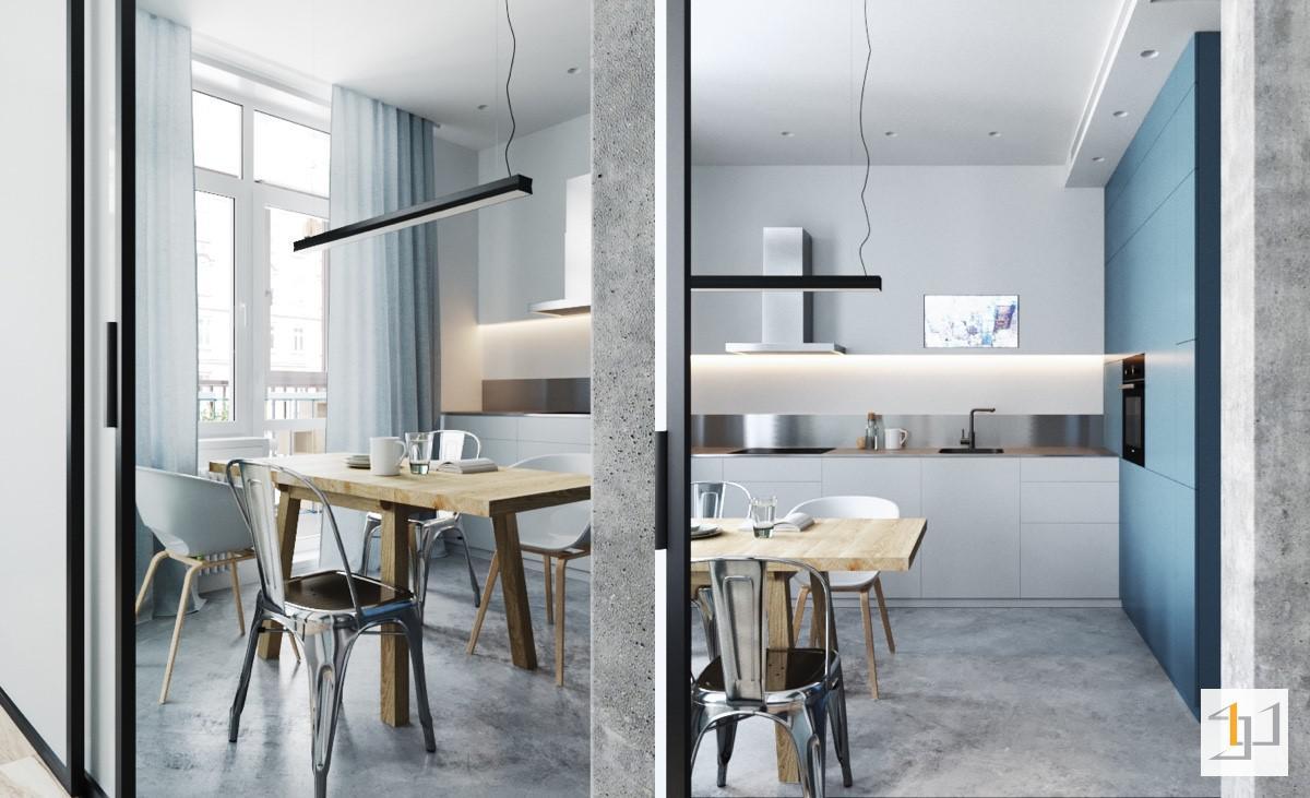 Thiết kế bếp đẹp cho nhà chung cư