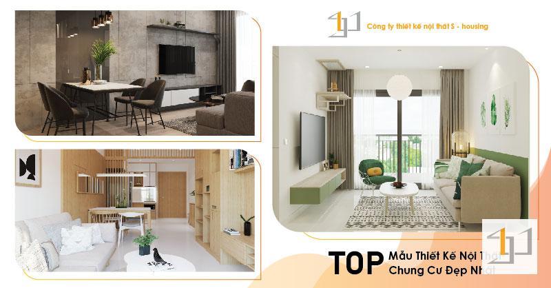 Thiết kế nội thất căn hộ chung cư đẹp xu hướng 2021