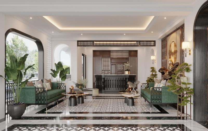 Thiết kế nội thất phong cách Đông Dương đẹp