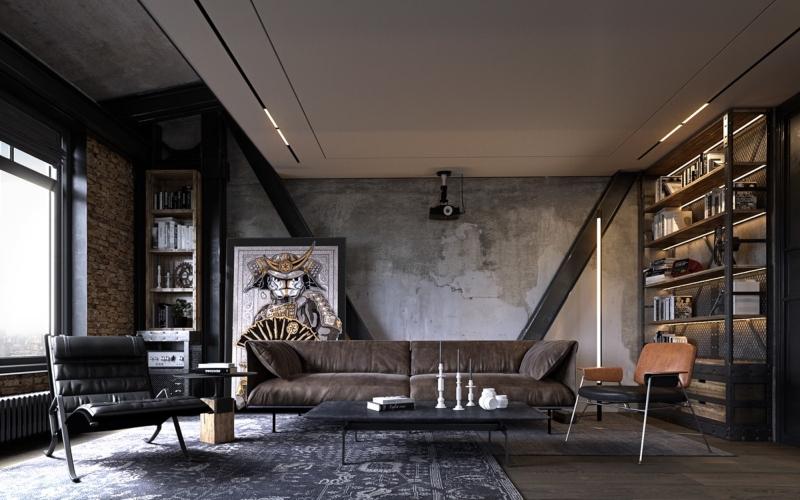 Thiết kế nội thất phong cách công nghiệp đẹp
