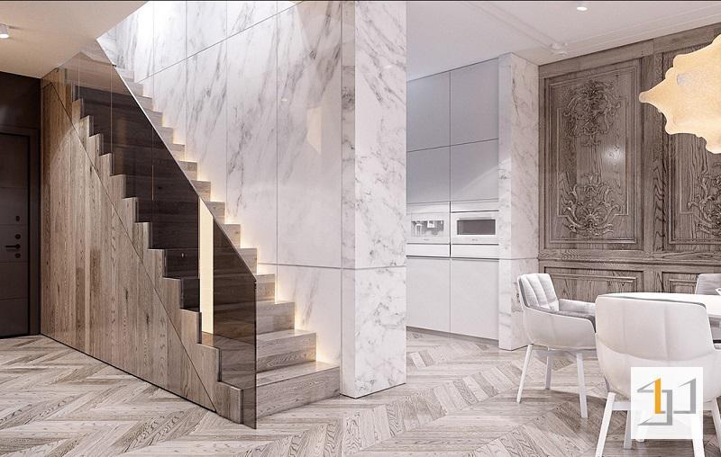 Thiết kế cầu thang thông tầng