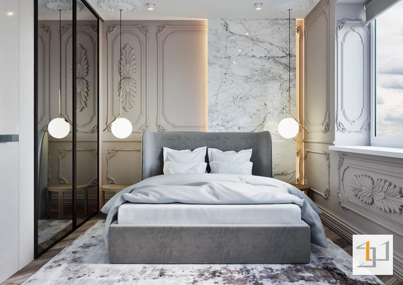 Thiết kế phòng ngủ phong cách tân cổ điển đẹp