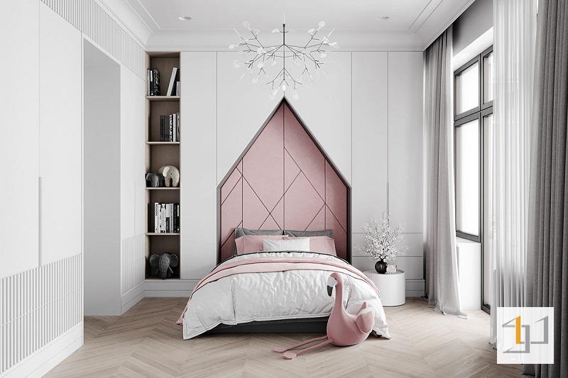 Phòng ngủ bé gái phong cách tân cổ điển