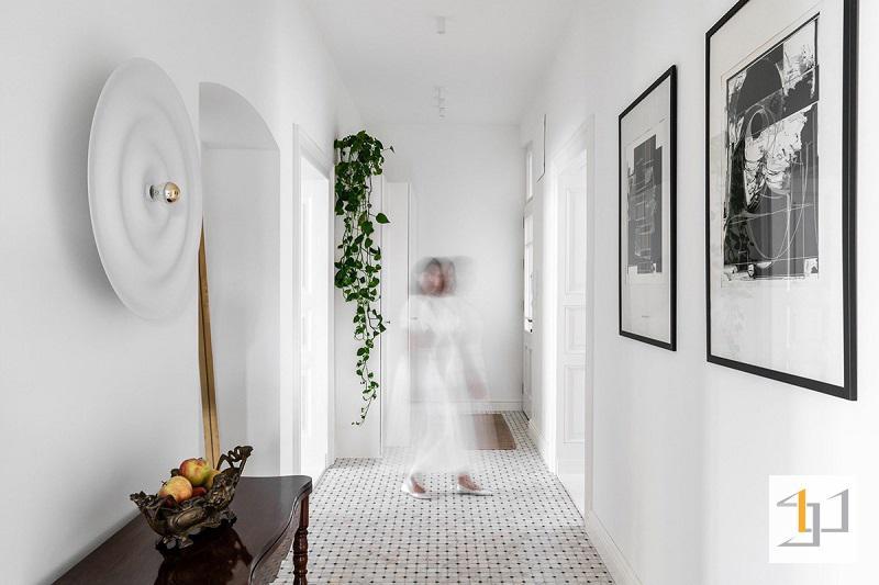 hành lang kết nối các phòng