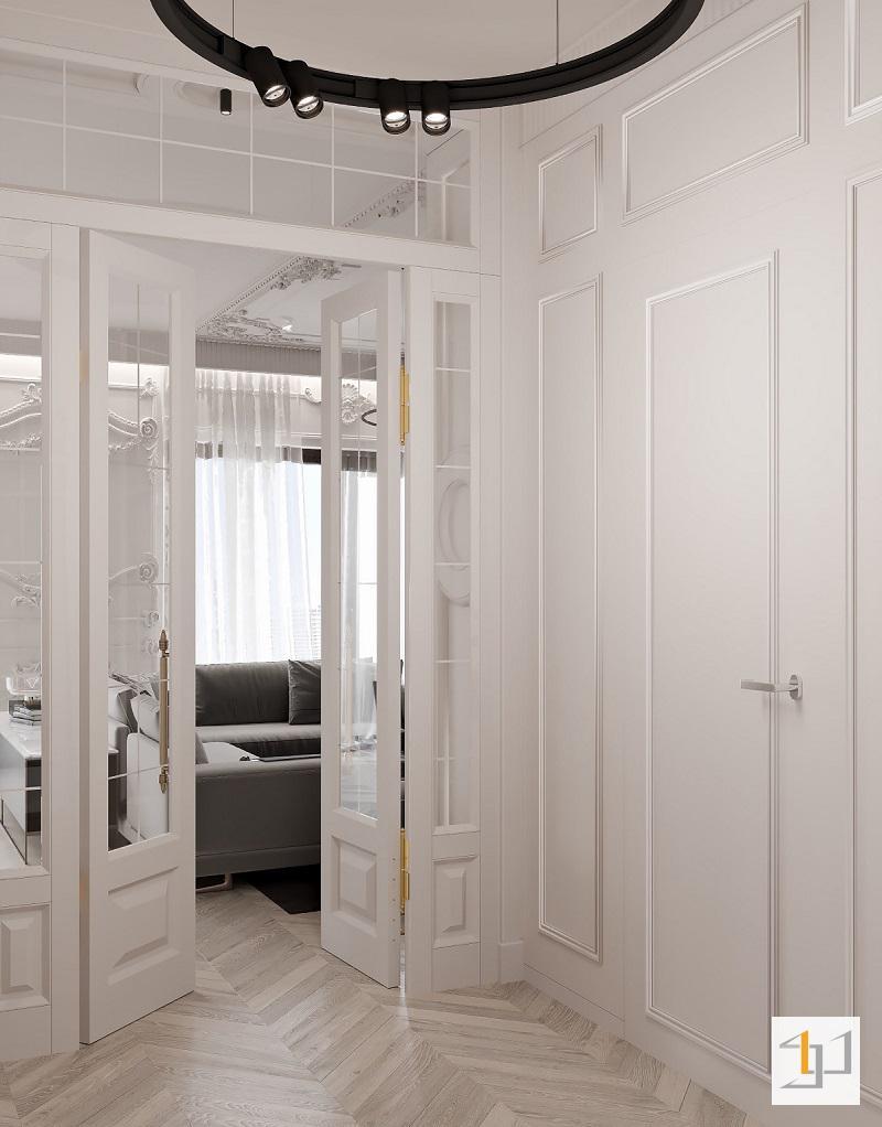 Không gian nội thất màu trắng sang trọng