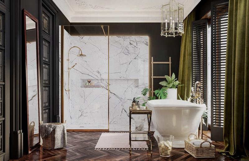 Thiết kế tắm đẹp cho biệt thự phong cách Indochine