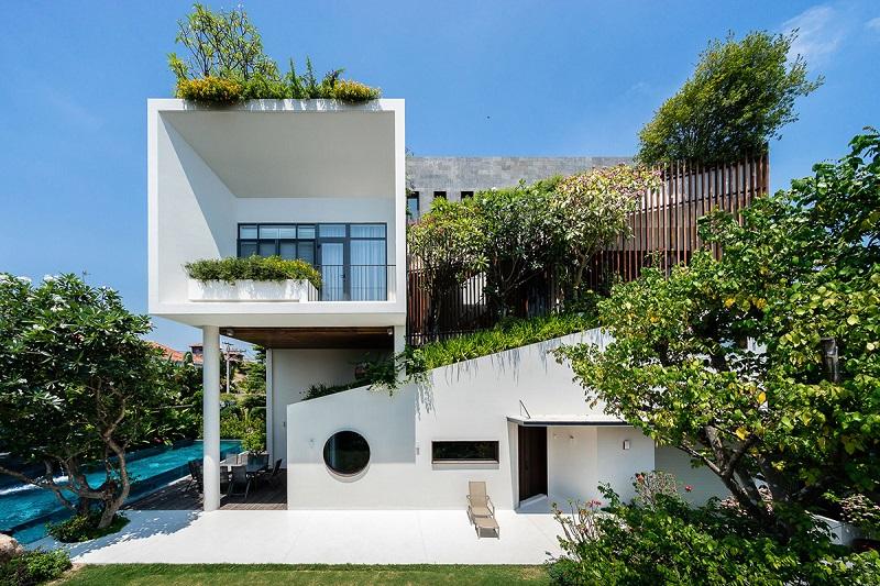 Kiến trúc hình học của thiết kế nội thất biệt thự hiện đại