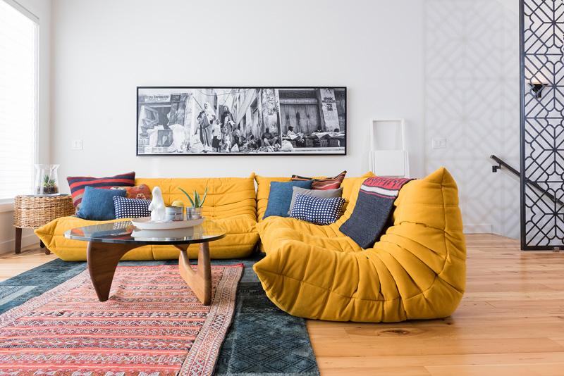 Phòng khách ấn tượng trong thiết kế nội thất biệt thự song lập