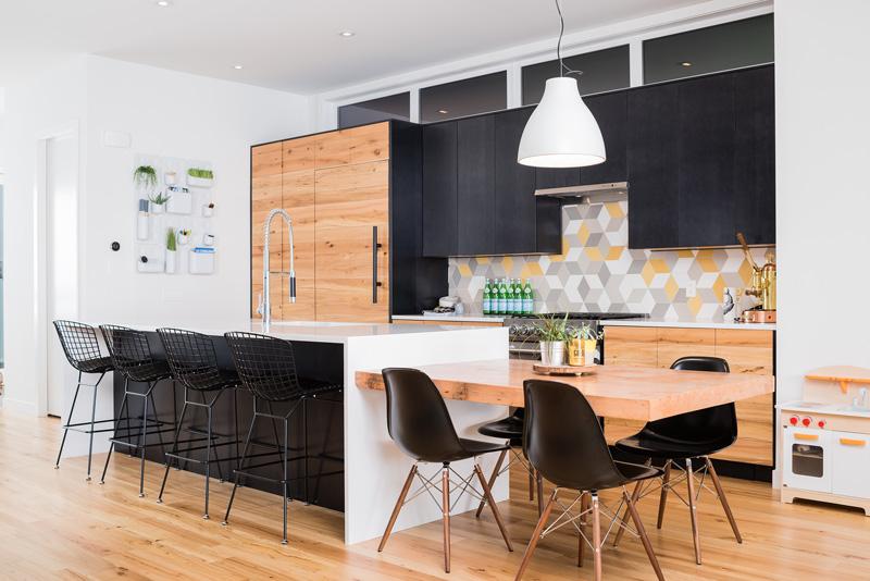 Căn bếp ấm cúng của thiết kế nội thất biệt thự song lập