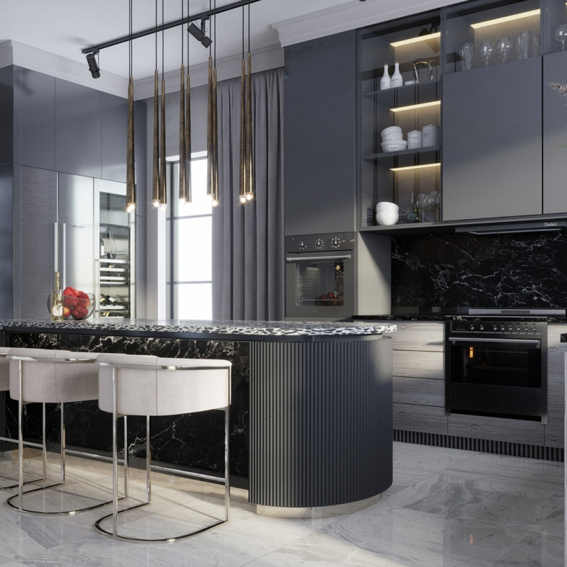 Phòng bếp tiện nghi với các thiết bị hiện đại