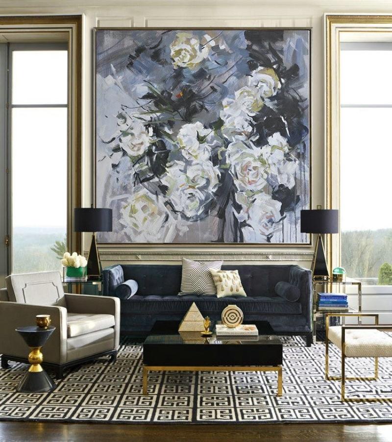 TRang trí nội thất phòng khách bằng tranh treo tường