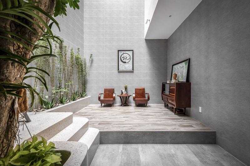 Nơi tiếp khách thân mật trong thiết kế nội thất biệt thự liền kề