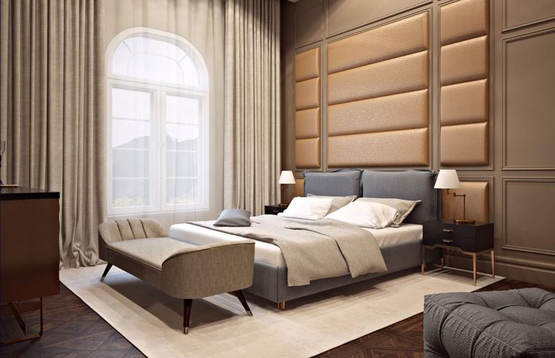 Phòng ngủ Master được bố trí đơn giản
