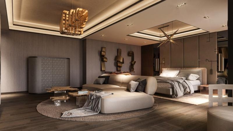 nội thất phòng ngủ biệt thự độc đáo
