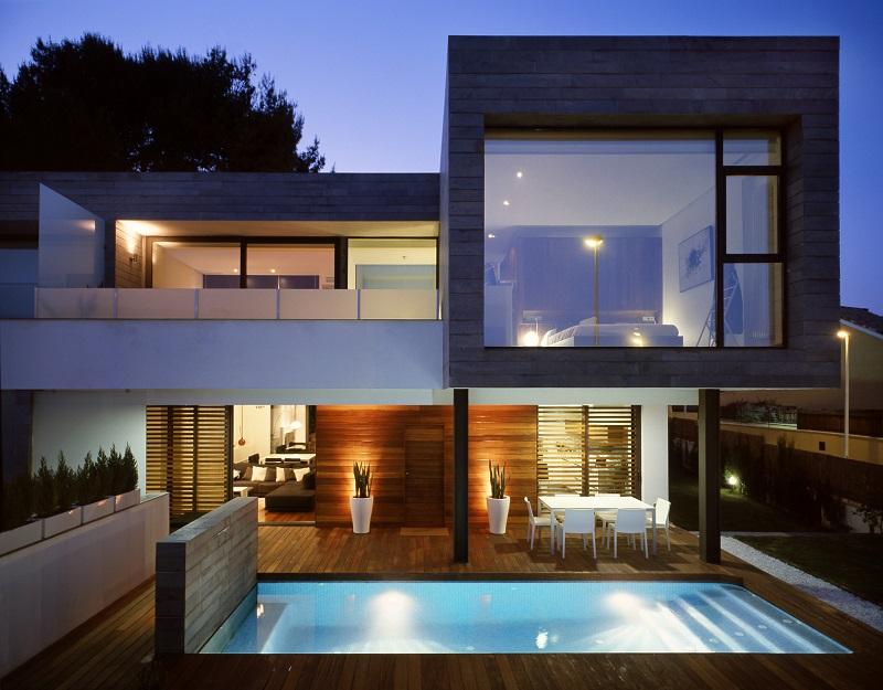 Hệ thống ánh sáng trong thiết kế nội thất biệt thự song lập