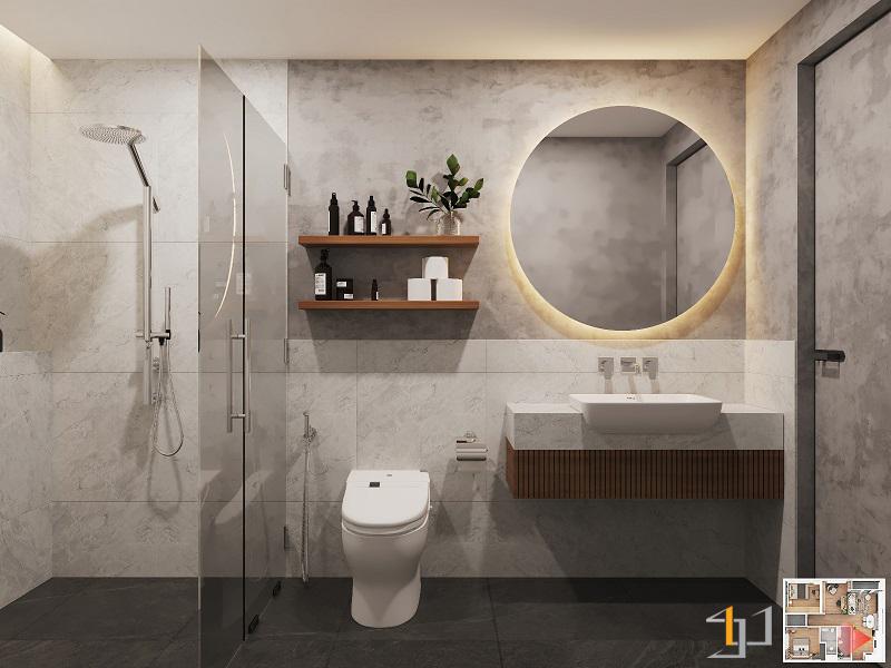 WC phòng Master VINHOME GRAND PARK 3PN HIỆN ĐẠI