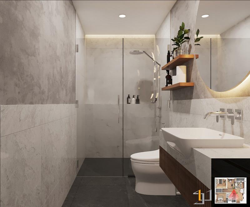Buồng tắm phòng Master VINHOME GRAND PARK 3PN HIỆN ĐẠI