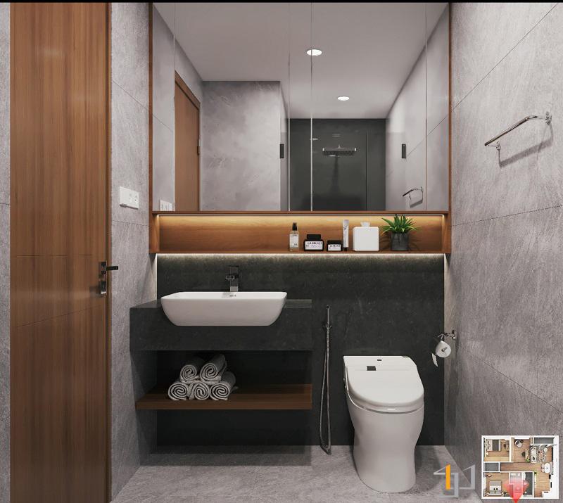 WC phòng ngủ nhỏ VINHOME GRAND PARK 3PN HIỆN ĐẠI