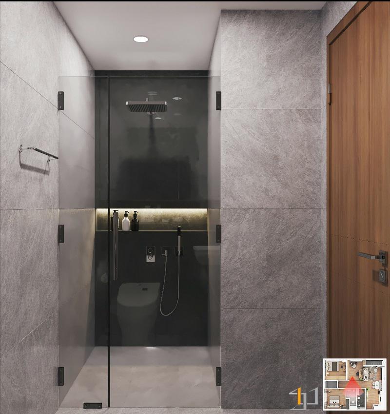 Buồng tắm phòng ngủ nhỏ VINHOME GRAND PARK 3PN HIỆN ĐẠI