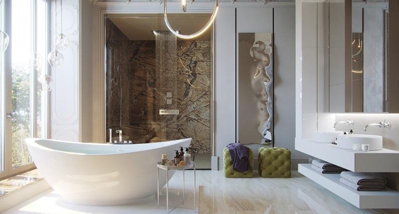 tắm đẹp cho biệt thự phong cách Đương Đại