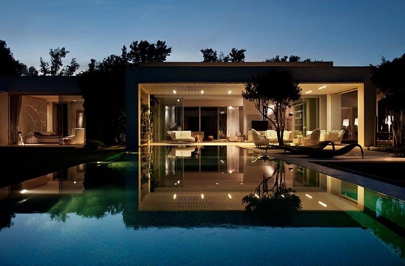 Hệ thống ánh sáng độc đáo trong thiết kế nội thất biệt thự hiện đại