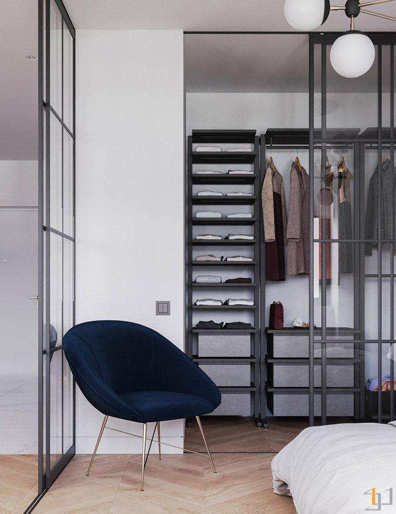 Dark-blue-bedroom-accent-chair