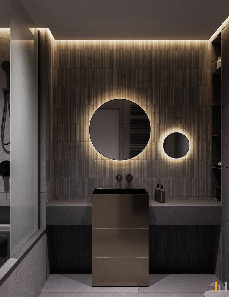 Dramatic-bathroom-scheme