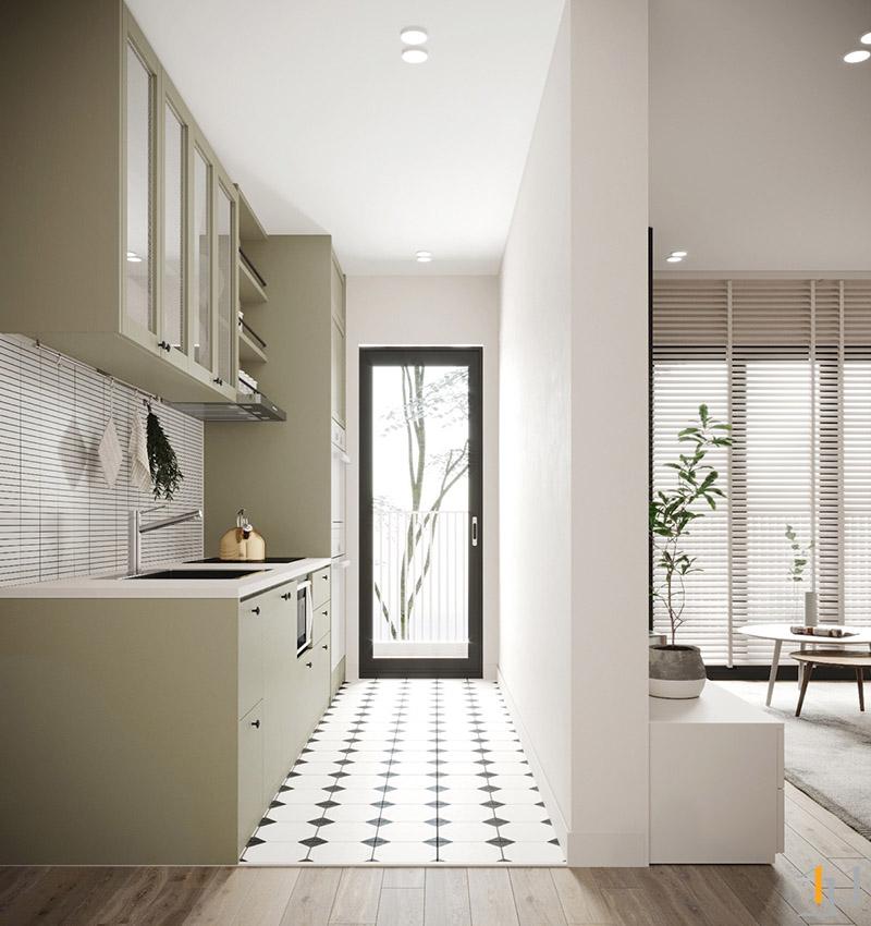 Light-green-kitchen