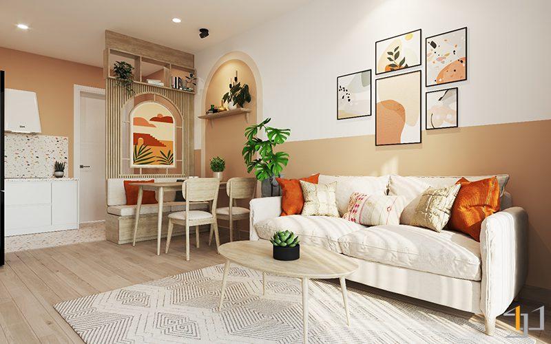 Phong cách Bohemian cho phòng khách