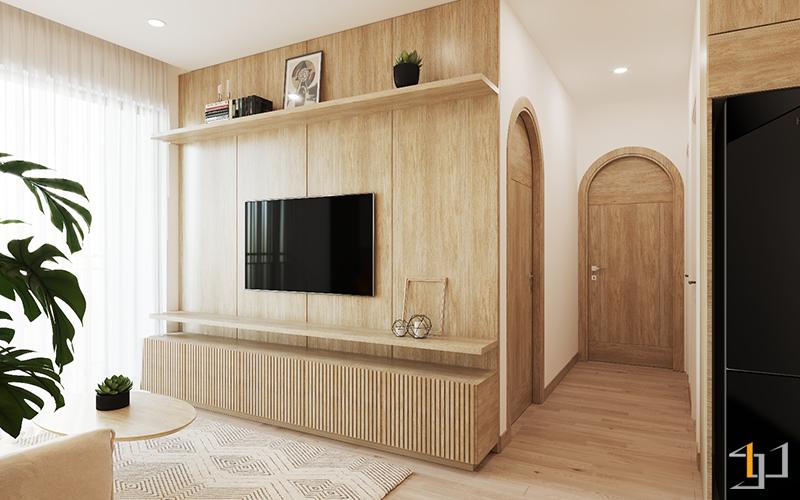 Chất liệu gỗ chủ đạo trong thiết kế nội thất
