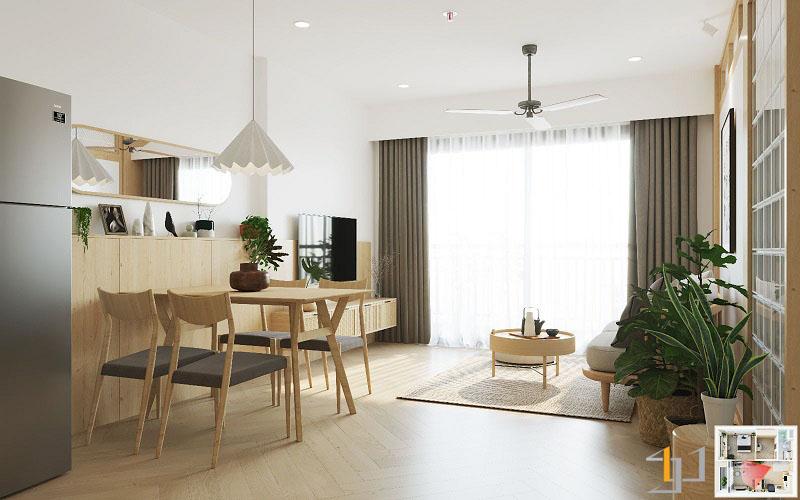 Thiết kế nội thất chung cư Vinhome 1PN 02