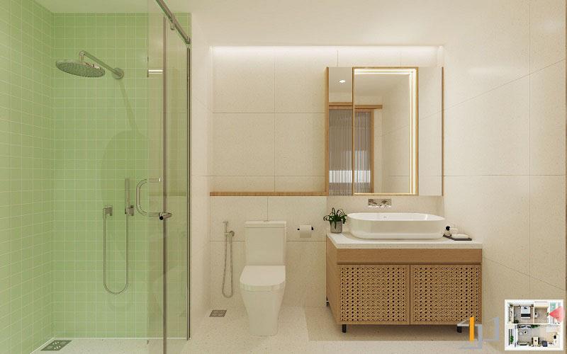 Thiết kế nội thất chung cư Vinhome 1PN 14