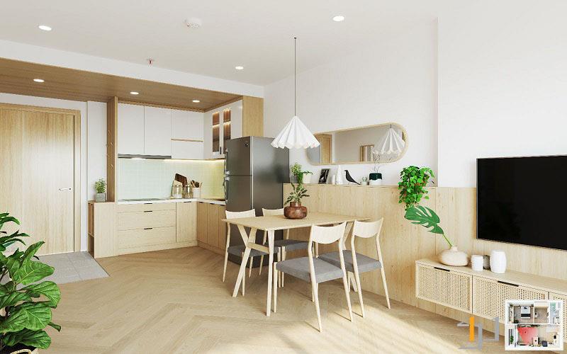 Thiết kế nội thất chung cư Vinhome 1PN 03