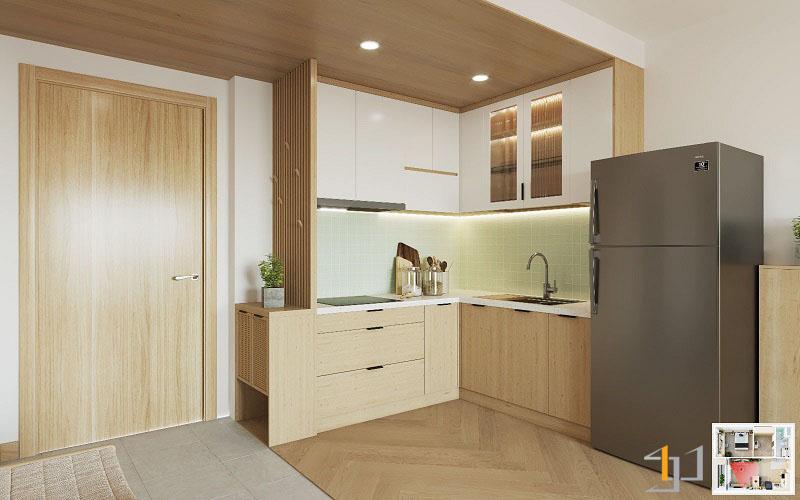 Thiết kế nội thất chung cư Vinhome 1PN 04