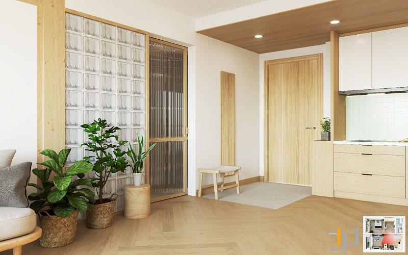 Thiết kế nội thất chung cư Vinhome 1PN 05