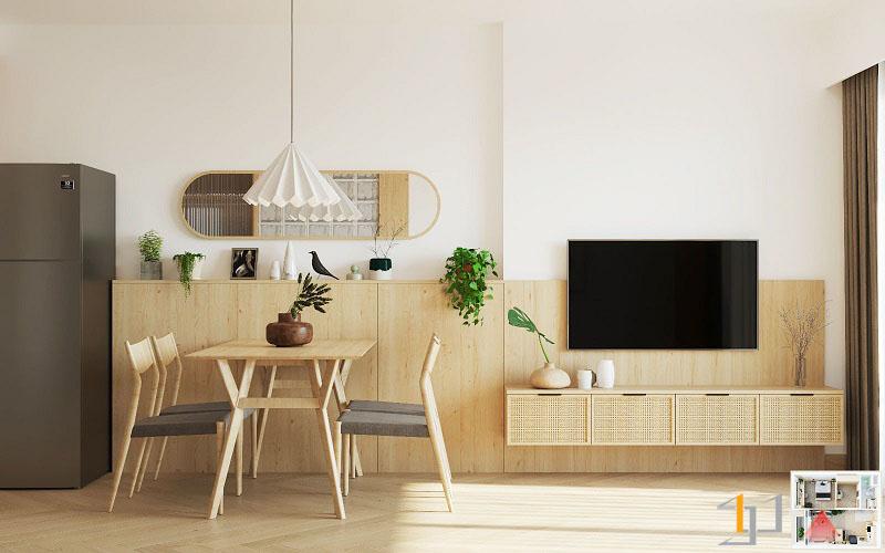 Thiết kế nội thất chung cư Vinhome 1PN 06