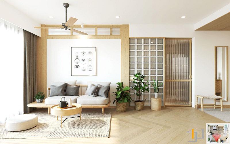 Thiết kế nội thất chung cư Vinhome 1PN 07