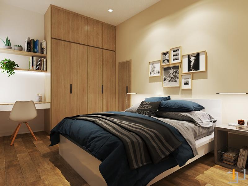 Thiết kế nội thất phòng ngủ phụ chung cư Sunrise quận 7