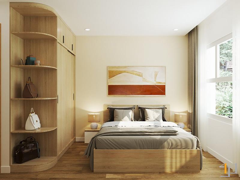 Thiết kế nội thất phòng ngủ Master chung cư Sunrise quận 7